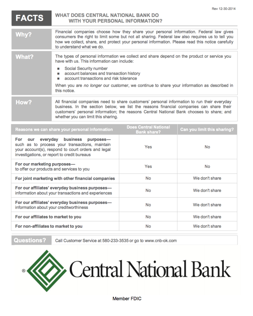CNB Privacy Policy
